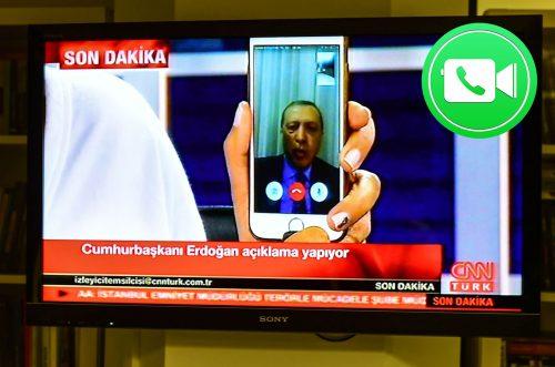 Erdogan FaceTime Call Turky
